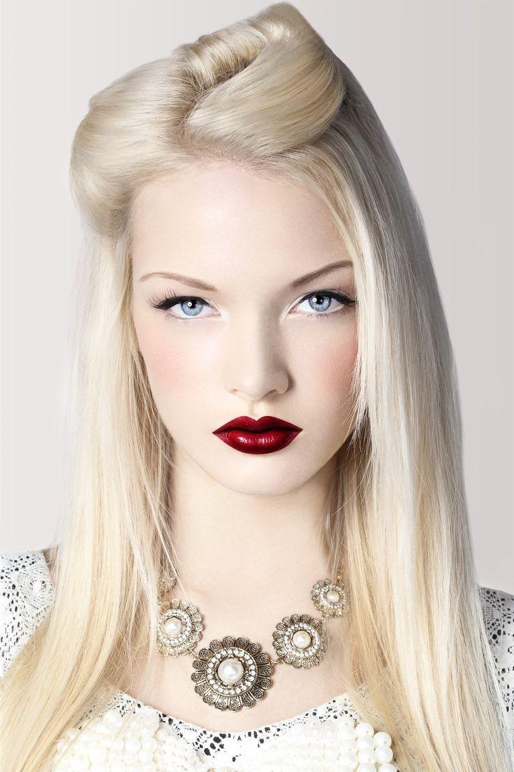 beyaz tenlilere Porselen Makyaj Modelleri