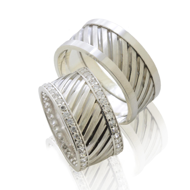 elmaslı Gümüş Alyans Modelleri