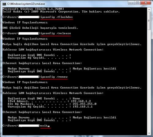 dns resetleme programı